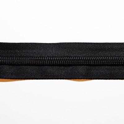 Блискавка сумочна спіраль №5 рулонна чорна