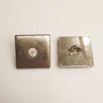Ґудзик для одягу металевий нікель