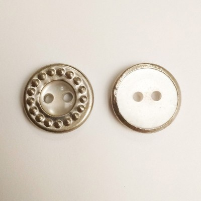 Пуговица для одежды пластиковая серебро