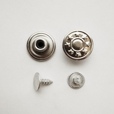Button jeans 14mm nickel