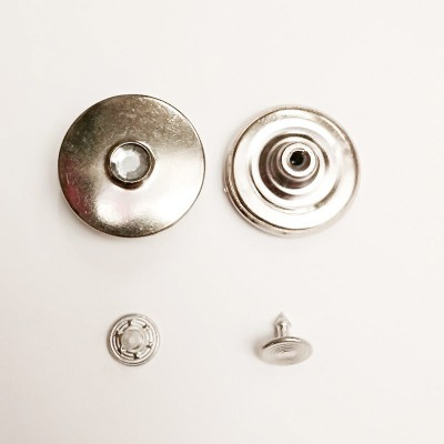 Button jeans 25mm nickel