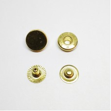 """Button for clothes 12mm """"Tablet"""" gold"""