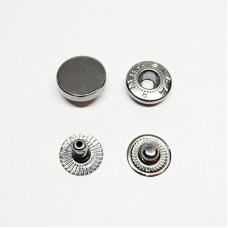 """Button for clothes 12mm """"Tablet"""" black nickel"""
