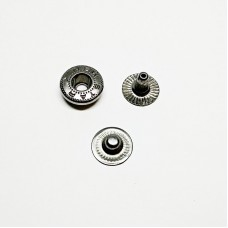 Button Alpha 12.5mm without cap faded nickel (Turkey)