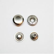 Button Alpha 15mm stainless steel, nickel (Turkey)