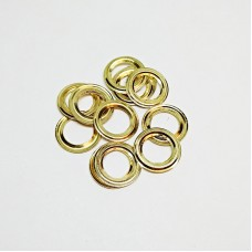 8mm reverse ring for No. 5 cringle, gold