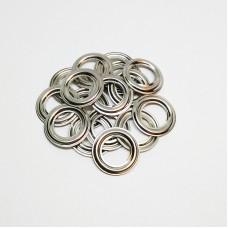 8mm reverse ring for grommet No. 5, stainless steel, nickel