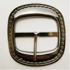Belt buckle 50mm, faded nickel