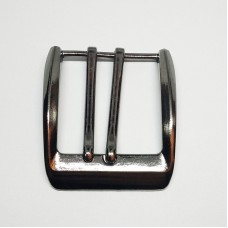 Belt buckle for 2 punctures 40mm, faded nickel